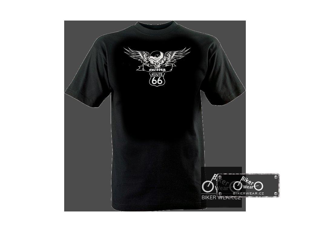 Tričko Route 66 okřídlená lebka – BikerWear 5743aa63d8